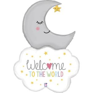 Folieballong - Welcome To The World 107 cm