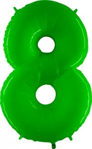Ballongsiffra - Åtta Lime Shiny 100 cm