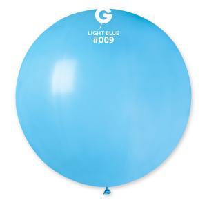 Latexballong - Ljusblå Rund 80 cm
