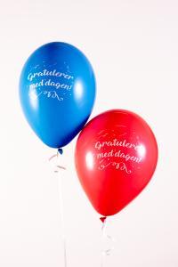 Latexballonger - Gratulerer med Dagen 25-pack