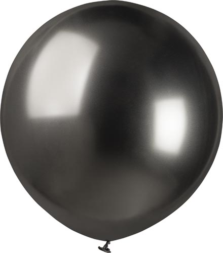 Latexballonger - Shiny/Chrome Space Grey 48 cm Styckevis