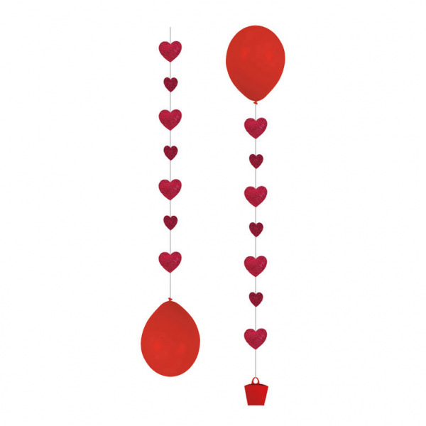 Ballongtyngd - Tails Hearts - 3-pack
